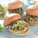 Turkey Sliders with Fresh Kiwifruit Chutney