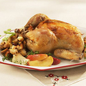 Roasted Chicken with Apple Stuffing