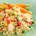 Garden Vegetable Chicken and Rice